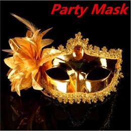 Argentina Máscaras de fiesta de la moda de las mujeres Máscaras de fiesta sexy venta de Halloween máscara de ojo veneciana máscaras del partido azul con flor de plumas ouc2001 Suministro