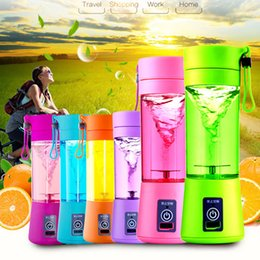 Wholesale Electric Netting - 380ML Personal Blender With Travel Cup Mug USB Portable Electric Juicer Blender Rechargeable Juicer Bottle In Stock WX-C54