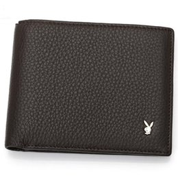 Wholesale Playboy Fashion - New 2017 Luxury brands Mens Wallets Small Bifold Credit Card PU Leather Travel Purse High quality Playboy Wallet for Men Fashion A088