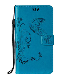 Wholesale Butterfly Play - Hybrid Butterfly Flower Strap Leather Wallet TPU Embossed Case Pouch For Galaxy S8 PLUS Huawei NOVA Plus Honor 4X Moto G4 Play Stand Cover