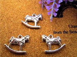 Wholesale Tibetan Antiques Wholesale - 60pcs--Rocking Horse Charm, Antique Tibetan Silver Tone 3D rocking horses Charms Pendants 20 pcs 15x15mm