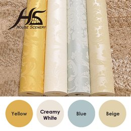 Wholesale Fashion Tv Europe - Wholesale- House Scenery 1 Fashion Non-woven Wallpaper TV Background Wallpaper Embossed 3D Three-Dimensional Flock Printing Wallpaper