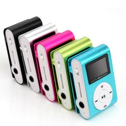Wholesale Mini Speaker Usb Micro Sd - Free Ship Colorful Mini Clip MP3 Player with 1.2'' Inch LCD Screen Music player Support Micro SD Card TF Slot + Earphone +USB Cable with Gif
