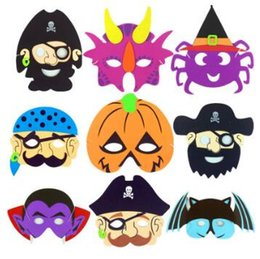 Wholesale Head Party Supply - Halloween Party Ghost Masks Halloween EVA Mask Ghost Festival Pumpkin Pirate Ghost Skull Head Party Supplies Halloween Props CCA7020 500pcs