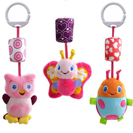 Wholesale Girls Car Beds - baby early educational toys Animal aby bed bell bed trailer hanging neonatal car hanging plush fabric Rattle Bell baby toys