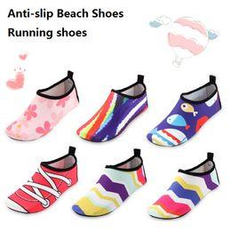 Wholesale Girls Water Shoes - Kids Shoe Boys Lightweight Water Shoes Children Striped Soft Barefoot Shoes Girls Quick Dry Aqua Socks Outdoor Anti Slip Drifting Shoes z031