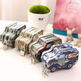 Wholesale Car Money Boxes - Hot Military cars Metal Piggy Bank with Lock Money Box Coin Bank Kids Gift Storage Saving box