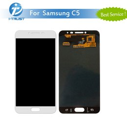 Wholesale Galaxy Screen Assembly - For Samsung Galaxy C5 C5000 White Black Gold High Quality LCD Display Replacement Touch Screen Digitizer Assembly With Free DHL Shipping
