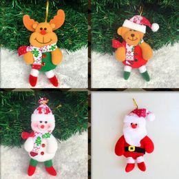 Wholesale Media Bear - Cute christmas decorations Santa Claus snowman Elk bear arbol de navidad Chrismas tree Hanging Ornament Gift Christmas Decoration Supplies