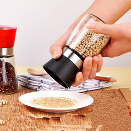 Wholesale Glass Manual Grinder Kitchen Pepper Seasoning Cans Black Sesame Seeds and Ground Cumin Pepper Millet Tool