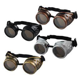 Óculos de soldagem on-line-Atacado-Hot Unisex Estilo Vitoriano Do Vintage Steampunk Óculos De Solda Do Punk Óculos Óculos Cosplay Óculos De Sol Dos Homens Das Mulheres Óculos Óculos