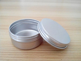 Wholesale Aluminium Cosmetic Containers - Free shipping 50g empty aluminium cream jars with screw lid,cosmetic case jar,50ml aluminum tins, aluminum lip balm container