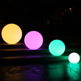 Wholesale Led Ball Pool - Fashion RGB LED Ball night lights 16 colors change IP68 Waterproof Floating vanity lights for lawn Garden swimming pool Decoration