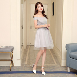 Wholesale Teenager Pageant Dresses - Free Shipping girls short elegeant tulle teenager pageant formal gowns gray prom dresses beautiful gown to wear to a fall occasion H3813
