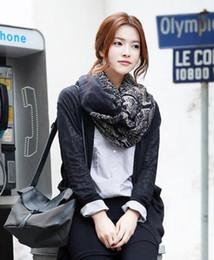Wholesale Korean Style Scarves - Wholesale- 2017 Hot Fashion Style Korean Fashion Deer Pattern Women Cotton Long Scarf Autumn Winter Big Shawls foulard femme #YL