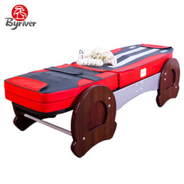 Wholesale BYRIVER Hot Selling Electric Multifunctional Automatic Reflexology Therapeutic Natural Genuine Jade Stone Massage Table Bed Massager