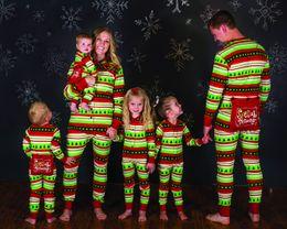 Wholesale Family Christmas Sleepwear - New Lovely Family Matching Christmas Pajamas XMAX Long Sleeve Romper Sleepwear Nightwear Family Match Clothes