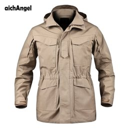 Wholesale military winter trench coat jacket - Upgraded M65 Tactical Trench Coat Army Clothes Casual Tactical Windbreaker Flight Pilot Coat Male Hoodie Military Field Jacket