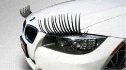 Wholesale automotive eyelashes - 2 X Auto 3D Eyelash 3D Automotive eyelashes car eye lashes 3D car logo sticker 2pcs = 1 pair
