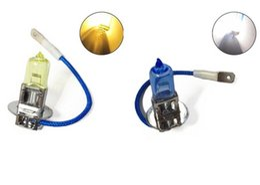 Wholesale Car Xenon 55w - 2pcs 12V 55W H3 HID Halogen Auto Car Fog Lights Bulbs Lamp Auto Parts Xenon Car Headlights Car Lights Source Accessories