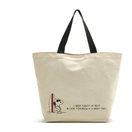 Wholesale Snoopy Dog Gift - Wholesale Classic Cartoon Snoopy Dogs Canvas Shopping Bag 28*40*13M Famous Fashion Handbag Tote Portable Bag Christmas Gifts