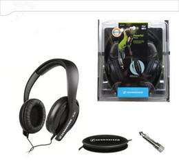 Wholesale Headset Plugs - HD202 black powerful bass stereo adjustable coil conversion convenient plug monitor headphones DJ computer game headset