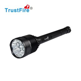 Wholesale trustfire cree battery - CREE XML-T6 8000LM 7 LED Flashlight Camping Flash Light 26650 Rechargeable Battery Torch Super Bright Higher Power Outdoor Sports Lantern