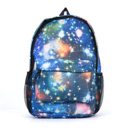 Wholesale Dream School - Dream Stars Sky Canvas Backpack Sport Casual Outdoor Packs Women Men Unisex Zipper Fashion Student School Bag High Capacity VK5205