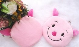 Wholesale Hobo Hand - Wholesale- Cute Pink Piggies Cartoon Plush 10CM Hand Coin BAG Pouch ; Purse & Wallet Case Keychain Pendant Storage BAG Pouch Handbag Case