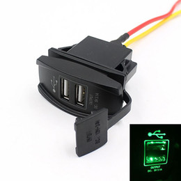 Wholesale Boat Outlet - Wholesale- 2016 New Universal Car Truck Boat Accessory 12V 24V 3.1A Dual USB Charger Power Adapter LED Outlet Free Shipping