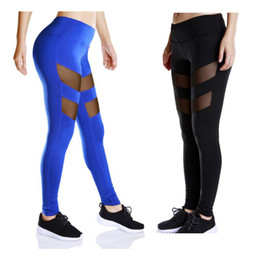 Wholesale America Fitness - Fitness Clothes Female Europe and America Plus Size Fast Dry Trousers Sports Tight Hollow Sports Running Yoga Pants Leggings