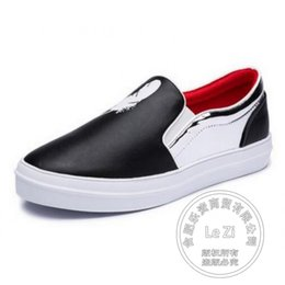 Wholesale Toe Flatform - Soft Leather Commuter Plain Simple Flat-bottomed Pu Skimmers Shoes Black Flat Shoes Color Block Flatform Shoes Women