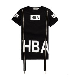 Wholesale Spinal Air - 2017 Men Fashion Hip Hop T- Shirt Zipper Side HBA Hood By Air Harajuku t shirts for men Spinal Cord X-ray Streetwear Tees