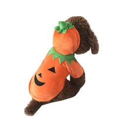 Wholesale Female Pumpkin - Dog Clothes Pet Pumpkin Costumes Puppy Hoodie Coat Dog Apparel Halloween or Christmas Gifts by different sizes
