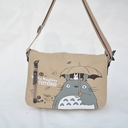 Wholesale Totoro Canvas - Wholesale- 2016 Anime My Neighbor Totoro Messenger Canvas Bag Shoulder Bag Sling Pack My Neighbor Totoro Bag Cosplay