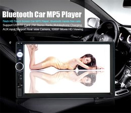 Wholesale Vcd Video - Multi function 7 Inch HD Touch Screen Bluetooth-Enabled Car MP5 Player Built-in Gps FM Radio Double Din DVD Audio & Video