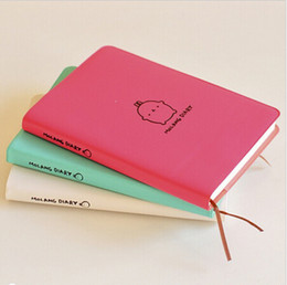 Wholesale Stitch Diary - 2017-2018 Cute Kawaii Notebook Cartoon Molang Rabbit Agenda Journal Diary Planner Notepad For Kids Gift Korean Stationery Three Covers