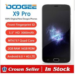 Wholesale Android Quad Core 16gb - DHL Original Doogee X9 Pro 4G LTE Smartphone 5.5 Inch MT6737 Quad Core Mobile Phone 16GB 2GB Android 6.0 CellPhone