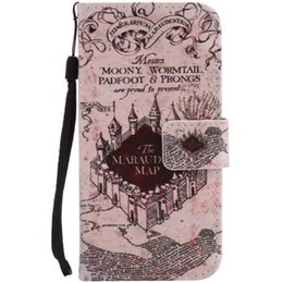 Wholesale S3 Case Painting - Painted castle flip leather case for Samsung Galaxy S3 S4 S5 S6 S7 edge card cover Card slot wallet with kickstand phone stand