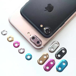 Protecteur d'appareil photo pour iphone en Ligne-Arrière Caméra Lentille Protecteur Métal Anneau De Protection Garde Cadre Cercle Housse Pour Apple iPhone 7 7Plus + Emballage au détail