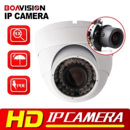 Wholesale 12mm Dome Cctv Camera - 2MP 1080P POE Dome IP Camera IR 30M Waterproof CCTV Camera With POE PC&Mobile View Onvif Auto Iris 2.8-12mm VariFocal Lens P2P