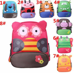 Wholesale Baby Boy Canvas - Kids Cartoon Animal Shoulder Bags Boys Girls Cute Backpacks Schoolbags Children Baby Toddler Canvas Handbag Tote Bags For Students