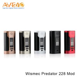 Wholesale Used Tanks - Authentic Wismec Predator 228 TC Box Mod High-rate 18650 Cell Use Elabo Tank Upgradable Firmware VS RX2 3