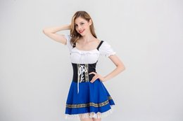 Hotsale para mujer Oktoberfest Bavarian Beer Girl Costume Disfraces de California Bar Bavarian para mujer Traje de mucama Sexy Night Bar Maid Uniforme desde fabricantes