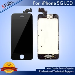 Wholesale Iphone Home Button Complete - Hot item-For iPhone 5 Full Complete Black LCD with Digitizer Bezel Frame+Home Button+Front Camera Full Assembly & Free Shiping