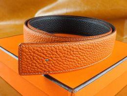 cinturones de oro Rebajas Nuevos Hombres de Moda Cinturones de Negocios de Lujo Ceinture Smooth Gold Silver Hebilla de Cinturones de Cuero Genuino Para Hombres Cintura Cinturón Envío Gratis