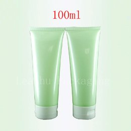 Wholesale Cosmetic Cream Containers Plastic - 100ml X 50 Empty Light Green Soft Lotion Tube Cosmetics Packaging,100g shampoo Plastic Bottles , Skin Care Cream Containers Tube