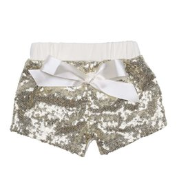 Wholesale Summer Baby Girl S - 2017 new Baby Sequins Shorts Summer Glitter Pants Glow Bowknot Trousers Fashion Boutique Shorts Girls Bling Dance Shorts