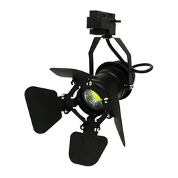 Wholesale Covers Rails - 10pcs pack Led Track light 7w cob rail lamp LED clothing store lighting LED Spotlight with adjustable cover on front