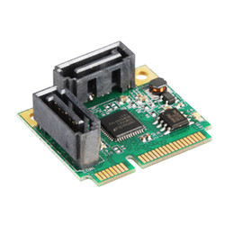 Wholesale Pci Card Size - 2 Ports SATA 6G mini PCI Express Controller Card mini PCI-e to SATA III 3.0 converter half-size to full-size bracket SATA3.0